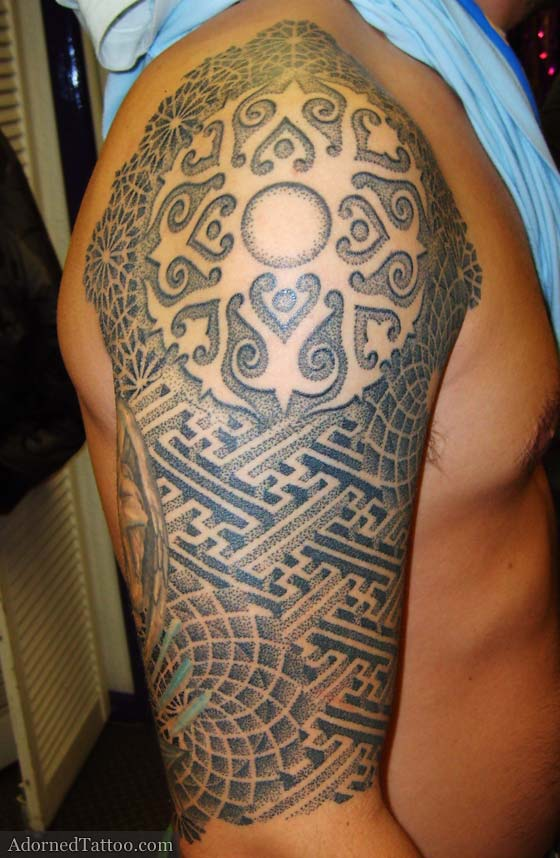 Stippling Tattoo Sleeves