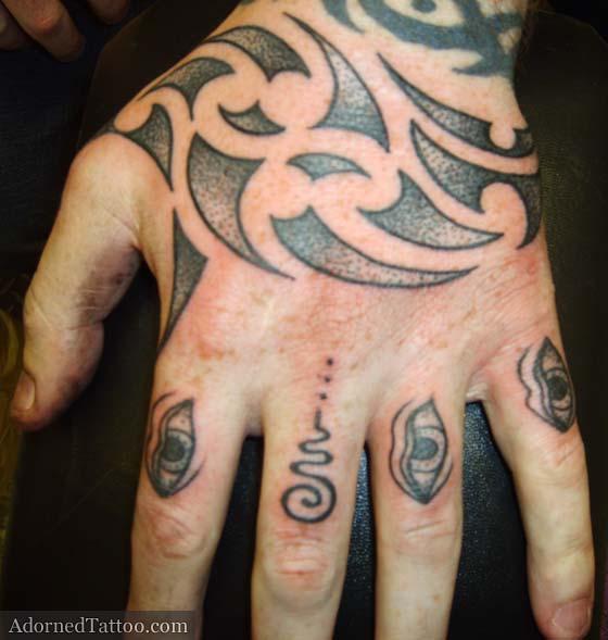 Maori Hand Tattoo: Maori-style Tribal Hand Tattoo