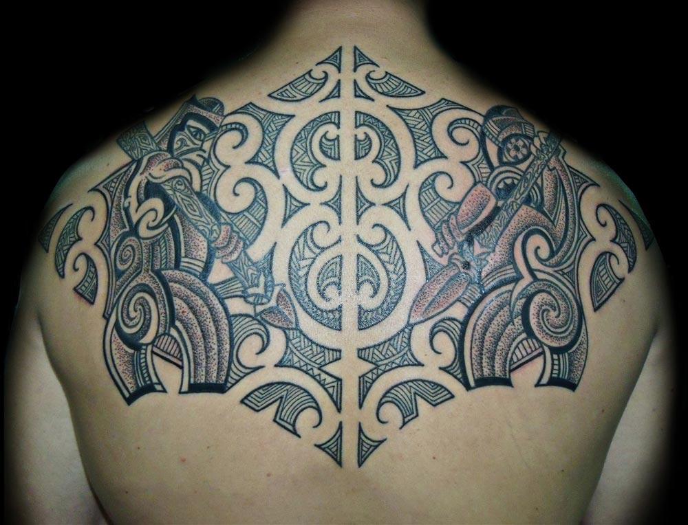 Geometric Dotwork Sleeve Tattoo