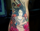 Japanese woman tattoo by Alex