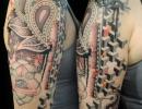 geometric mandala tattoo by Alex