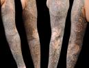 geometric sleeve tattoo by Alex