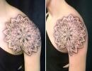 mandala shoulder tattoo by Alex