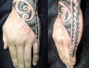 Polynesian hand tattoo by Alex