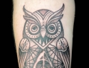 owl tattoo by Alex
