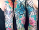 Japanese sleeve with peony tattoo by Alex