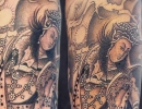 Chinese deity tattoo by Alex