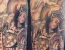 Chinese deity tattoo by Alex