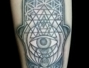 hamsa hand tattoo by Alex
