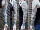 dotwork sleeve tattoo by Alex