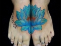 lotus flower foot tattoo by Alex