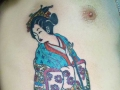 Japanese geisha tattoo by Alex