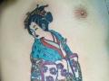 Japanese geisha tattoo by Alex