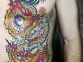 Japanese dragon chest tattoo by Alex