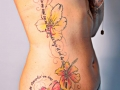 waist and hip flower tattoo by Alex