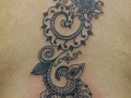 henna back tattoo by Alex