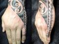 Polynesian hand tattoo by Alex